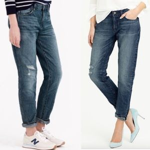 J. Crew Slim distressed broken-in boyfriend jeans
